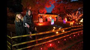 Halloween Window Lights Annapolis Couple Goes All Out For Halloween Decorations For