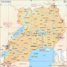 Africa Map With Cities by Uganda Map Map Of Uganda