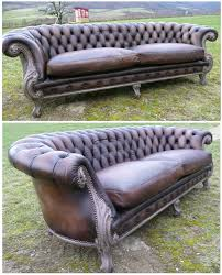 canapé chesterfield ancien chesterfield baroque marron mat le canapé fauteuil atelier ka