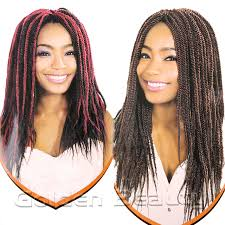 soul twist bulk hair folded senegalese synthetic hair extension 14 inch black color