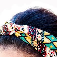 stretch headbands sizzle city new custom colored tribal twist elastic stretch