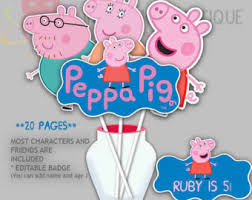 photo booth props for sale sale peppa pig party photo booth props 1 peppa by irajojobowtique