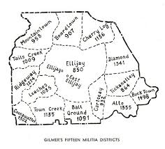 Georgia Counties Map Gagenweb Gilmer County Georgia