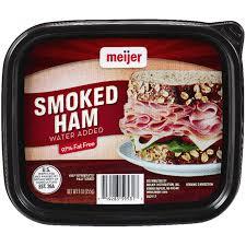 Meijer Home Decor Meijer Lunchmeat Thin Sliced Smoked Ham Tub 9 Oz Meijer Com