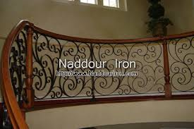 Stair Banister Rails Wrought Iron Stair Rails Naddour Iron