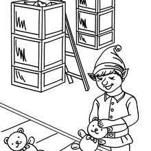 christmas elf coloring pages hellokids