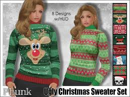 second life marketplace phunk mesh women u0027s ugly christmas