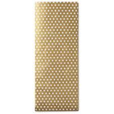 gold polka dot tissue paper gold with white polka dots tissue paper 6 sheets tissue hallmark
