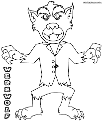 halloween witch coloring pages werewolf coloring pages