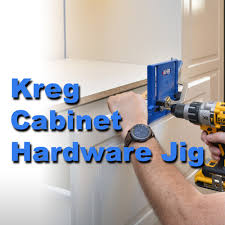 kitchen cabinet door hardware jig installing knobs and pulls with the kreg cabinet hardware