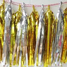 buy umiss gold foil paper tassel garland hanging paper decoration