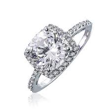 Vintage Style Cushion Cut Engagement Rings Bling Jewelry Vintage Style Sterling Silver Cz Cushion Cut