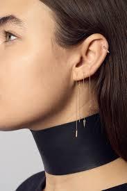 earrings on ear cone spike chain pull thru single earring wendy nichol