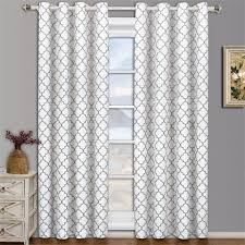 Curtains White And Grey Best Blackout Thermal Insulated Curtains Blinds Shades