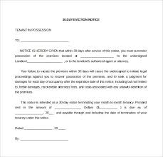 eviction notice letter 30 day eviction notice letter to tenant