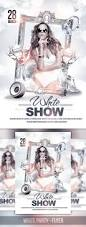 the white party event flyers and party flyer