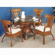 wicker dining table with glass top amazing ideas wicker dining table and chairs with glass top base