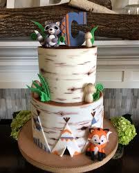 woodland creatures baby shower decorations stunning decoration woodland creatures baby shower cake opulent