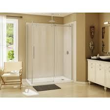 900 Shower Door Maax Halo 59 In X 79 In Semi Frameless Sliding Shower Door In