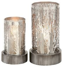 2 metal candleholder set contemporary candleholders by