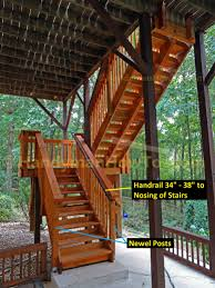 Deck Stair Handrail How To Build Code Compliant Deck Railing