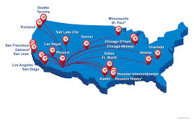 Map Of Chicago Airport Nonstop Destinations Fly Tucson