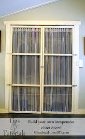 Closet Door Alternatives How To Build Your Own Inexpensive Closet Doors Closet Door