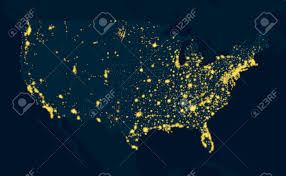 Maps United States Of America by Night Map United States Of America Royalty Free Cliparts Vectors