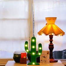 amazon com led cactus light yiamia cute night table lamp light
