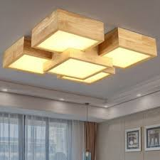 Square Ceiling Light Fixture by 48w 4400lm Led Wooden Square Ceiling Light 220v 177 3 Online