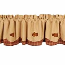 Fall Kitchen Curtains Give Your Kitchen Window A Bit Of Fall Apple Lined Applique