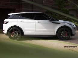 land rover white black rims rennen forged presents the range rover evoque on the r5 x concave