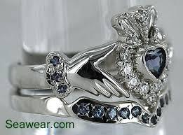 claddagh wedding ring set diamond claddagh wedding ring sets s s diamond claddagh engagement