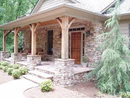 House Porch by Stacked Stone Porch Columns This Would Work Beautifully With My