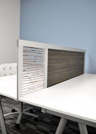 Office Desk Privacy Screen 6 Privacy Screen With Wood Laminate 3form Resin Panel Desk