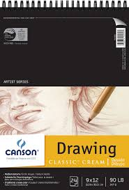 save on discount canson drawing paper pad 90 lb classic cream