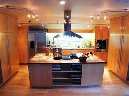 Track Lighting For Kitchen Kitchen 49 A Modern Wooden Cabinet Kitchen With Hanging