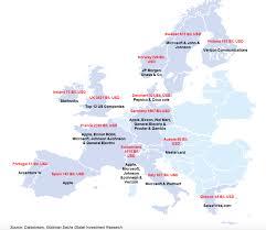 Starbucks Map Goldman Sachs Market Cap Comparison U2013 U S Vs Europe Phoenix