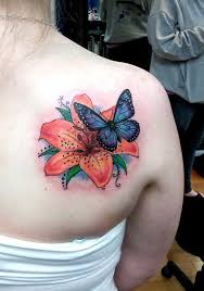flowers and butterfly tattoos butterfly flowers