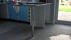 Breakfast Bar Shorten 870mm Breakfast Bar Leg Benchmarx Wickes Youtube
