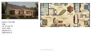 Floor Plans For Ranch Style Homes by Modular Home Ranch Plan 388 2 Jpg