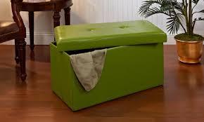 gorgeous collapsible storage ottoman simplify double folding