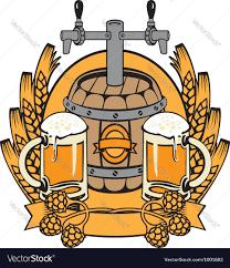 beer vector cask beer royalty free vector image vectorstock