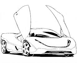 free coloring sports cars