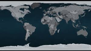 Flat Map Of World by 3d Geopolitical Map Of The Earth With All Countries And Their
