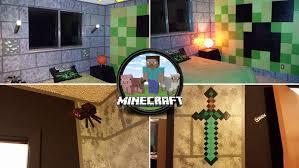 chambre minecraft un thème minecraft pour la chambre de leurs enfants geeks and com