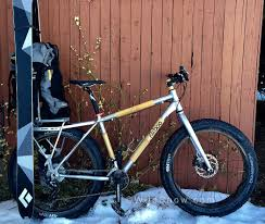 alubooyah backcountry bike with tech toe ski carrier the