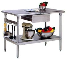 stainless steel kitchen work table island couchable co stainless