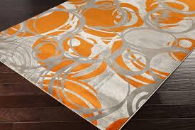 Area Rugs Orange Orange And Grey Area Rug Home Design Ideas
