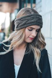 knit headbands cable knit headband